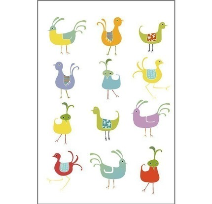 yellowmonday's bird sampler print