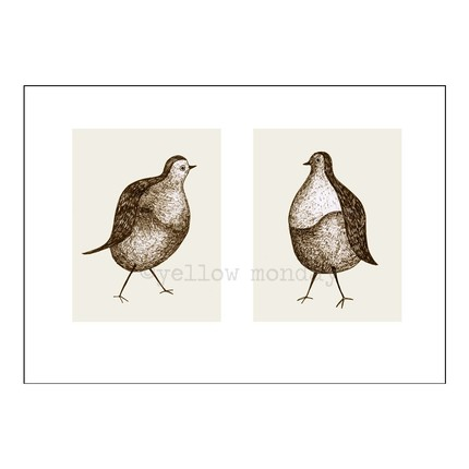 "yellowmonday's ""two pigeons"" print"