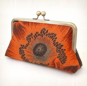 fiery poppy luxury clutch (a little pop of ORANGE!)