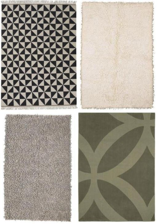 "a good selection of ""neutral"" rugs from IKEA"