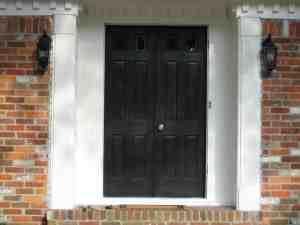 the door painted blah-blah-black