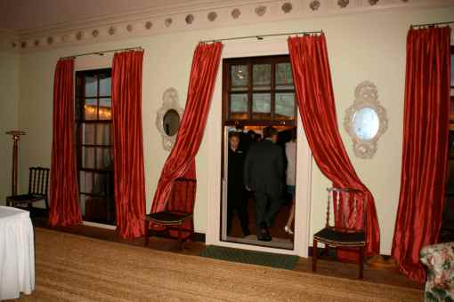 the main room's windows used as doors