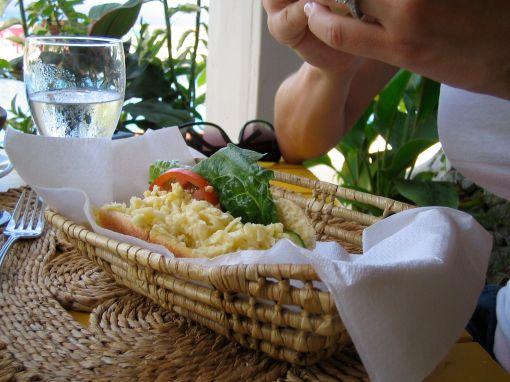 stonefield estates villas' breakfast sandwich