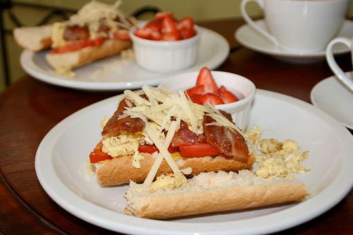 our st. lucia breakfast sandwich