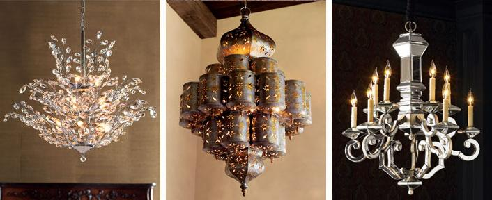 tres chic chandeliers! - Mirrors {in The Tweeds}