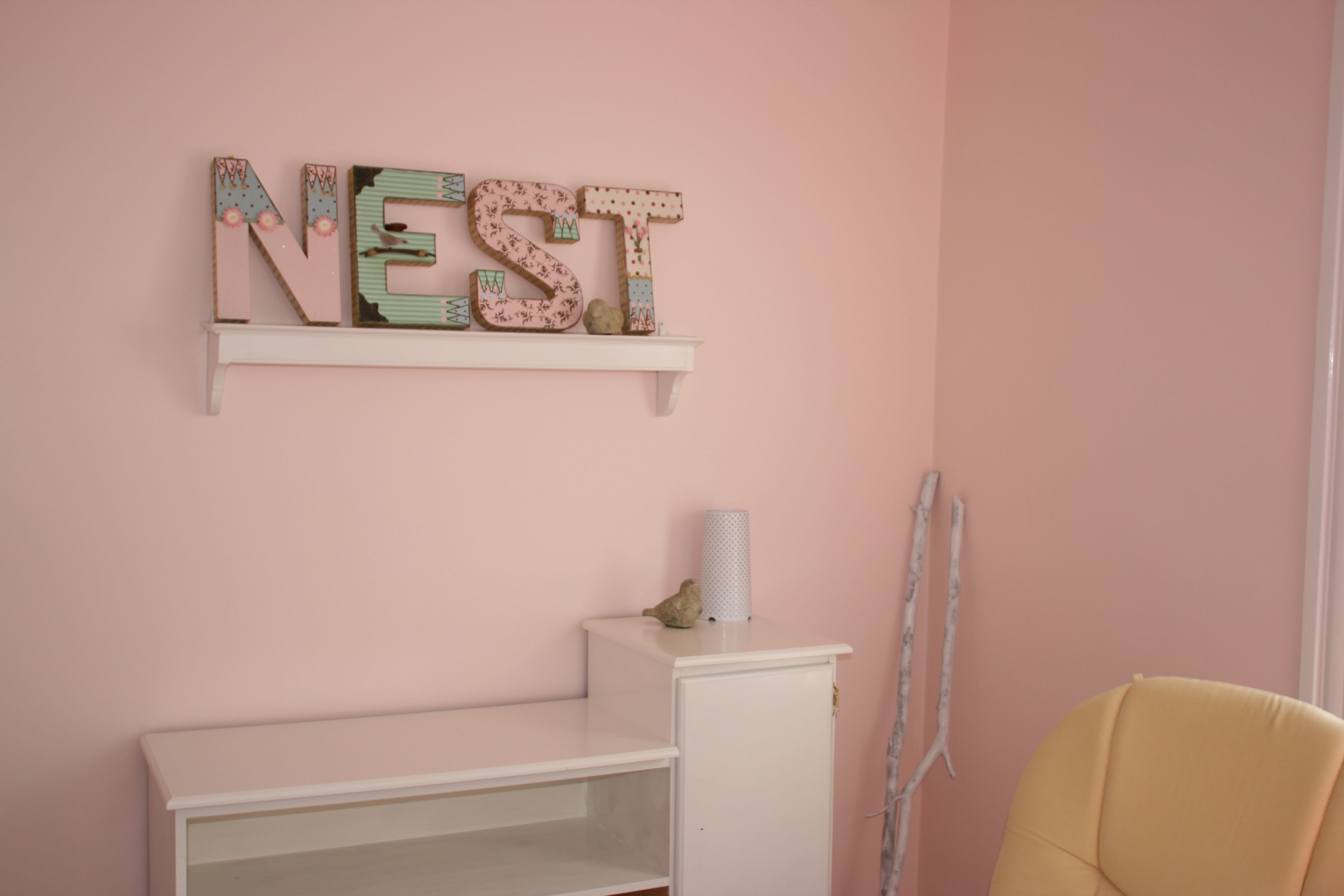 the painted changing table & N-E-S-T