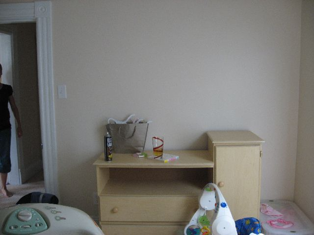 before shot of the changing table