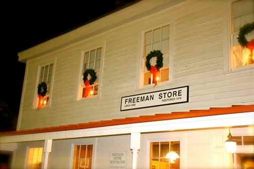 the christmas-tized freeman house