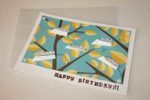 homemade airplace birthday card