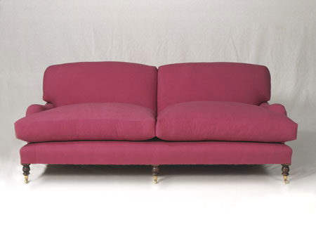 a basic sofa - in cranberry