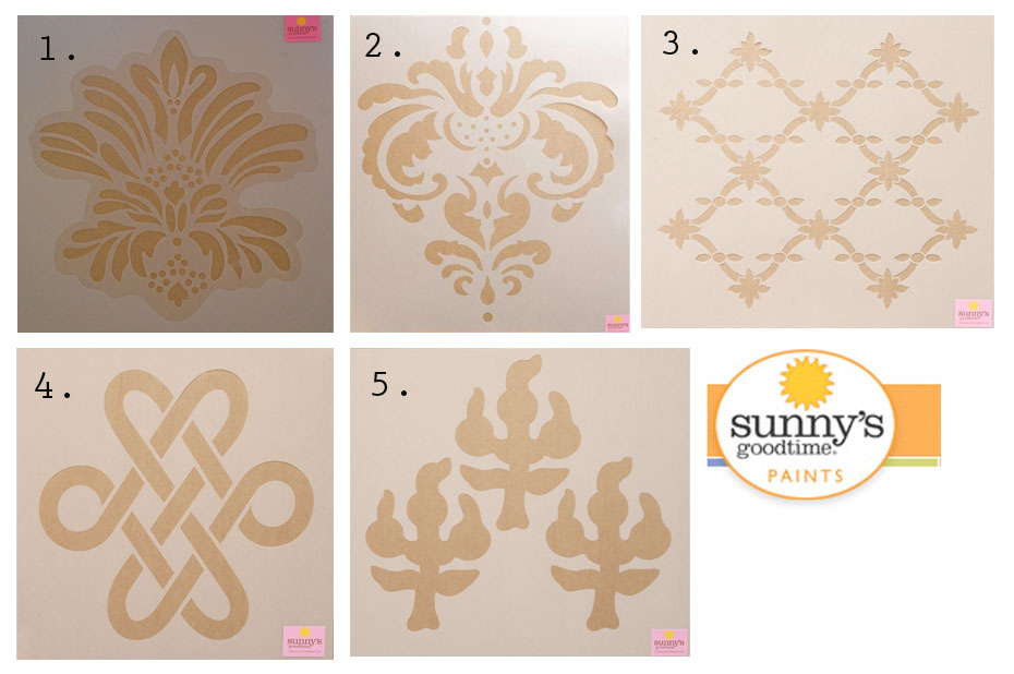 sunny's goodtime paints stencil options