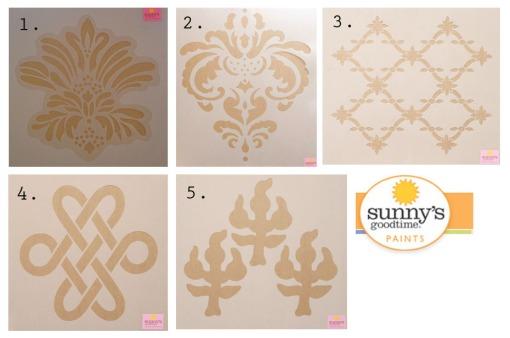 sunny's goodtime paints stencil options