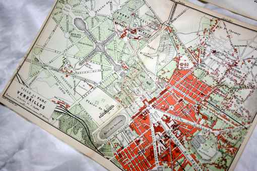 early 1800s map of versailles
