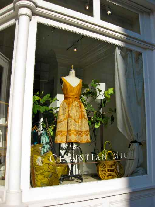 a TDF (to die for) dress inside a clothing / decor shop