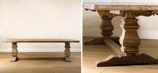 the trestle salvaged wood table
