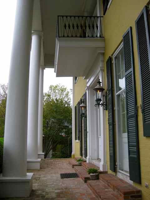 the front porch, typical greek revival